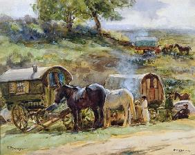 Gypsy Encampment, Appleby, 1919 (see also 54655)