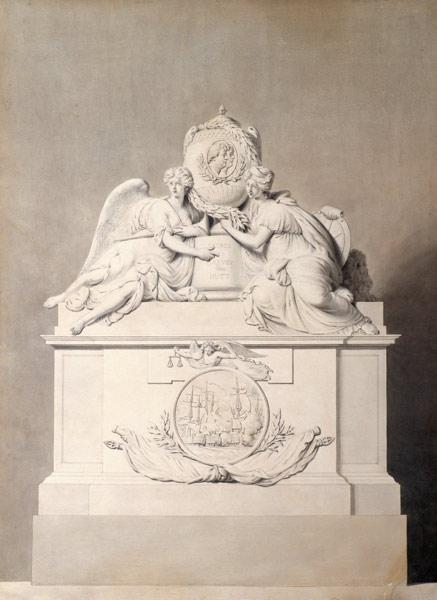 Design for the Monument to Captains Harvey and Hutt in Westminster Abbey c.1804  on