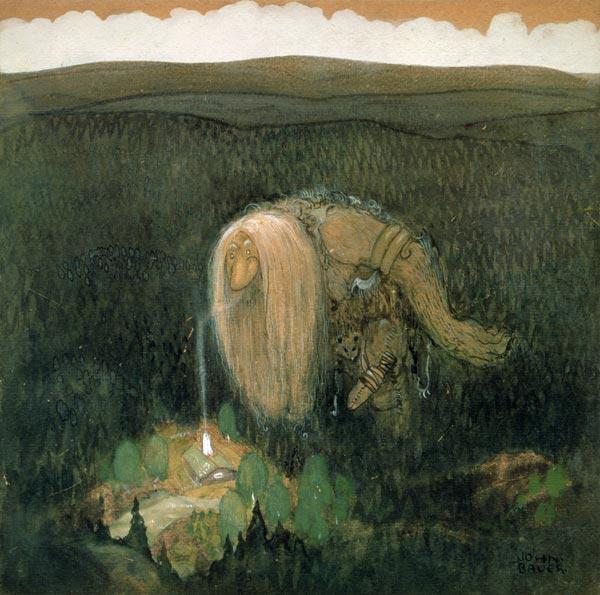 A Forest Troll, c.1913 (w/c on paper) 1814
