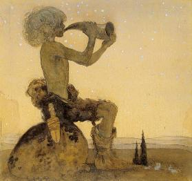 A Fairy Shepherd, 1910 (w/c on paper) 1814