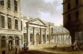 The Pump Room, from 'Bath Illustrated by a Series of Views', engraved by John Hill (1770-1850) pub. 1804