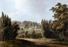'The Hermitage' at Montmorency, 1809 (colour litho) 19th