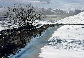 Snow Above Barbondale, Barbon, nr Kirby Lonsdale, Cumbria