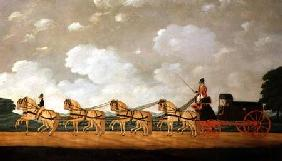 His Majesty's Forgon with a Team of Eight Roans on the Road 1812