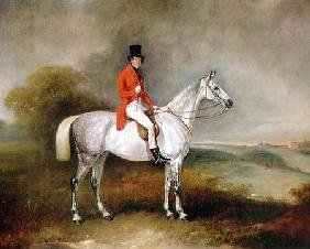 Charles Neil Hogg on his hunter 'Alice Grey', Ormely Hall, Leicestershire 1839