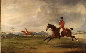 John, 5th Duke of Rutland, General Lord Charles Manners and General Lord Robert Manners Hunting