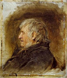 Profile Study of an Elderly Man 1884