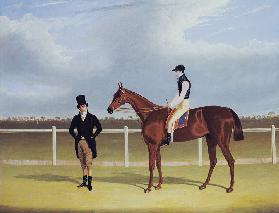 The Hon. E. Petre's 'Rowton', winner of the St. Leger with Bill Scott up 1829