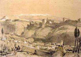The Alhambra from the Albay, from 'Sketches and Drawings of the Alhambra', engraved by James Duffiel 14th