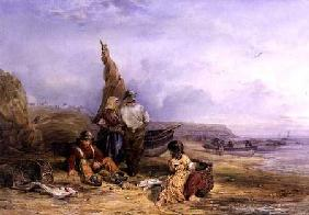 Figures on a Beach 1846  on