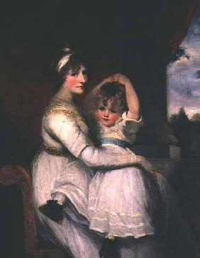 Georgina, Countess of Bathurst and her son 1792