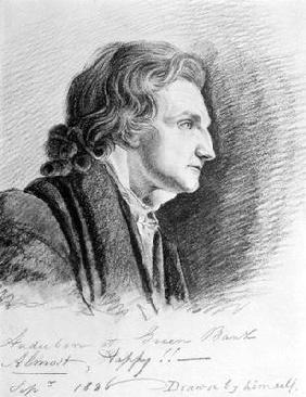Kunstdruck von John James Audubon - Self Portrait, 1826 (pencil on paper)