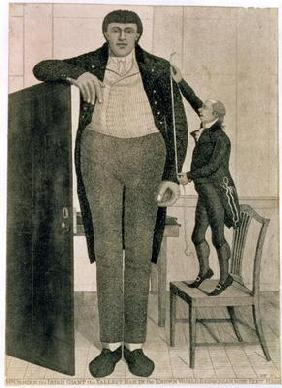Mr O'Brien, the Irish Giant, the Tallest Man in the Known World Being near Nine Feet High, 1803 (etc 19th