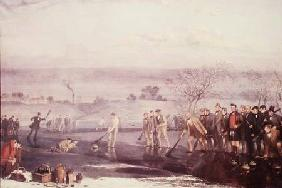 Curling at Rowyards Loch 1857