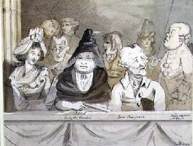 Caricature of the audience at the Commemoration of Handel in Westminster Abbey in 1784 1790