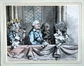 Caricature of the audience at the Commemoration of Handel in Westminster Abbey in 1784 1787