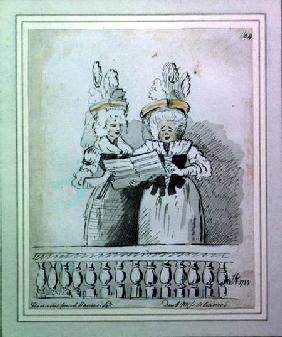 A duet by Miss Harriet and Miss Theodosia Abrams, Harrison's Concert, Hanover Square 1788