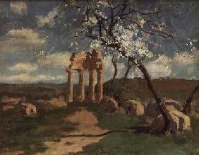 Almond Trees and Ruins, Sicily c.1887