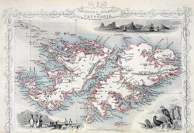 Falkland Islands and Patagonia, from a Series of World Maps published by John Tallis & Co., New York 17th