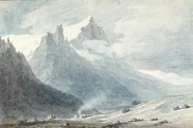 In the Canton of Unterwalden (w/c on paper) 1817