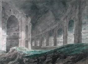 Interior of the Lower Ambulatory of the Colosseum, Rome 1778  on