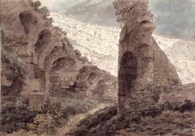 Interior of the Colosseum, 1778 (w/c on paper)