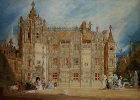 Abbatial House at the Abbey of St. Ouen at Rouen 1826  on