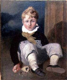 Boy at Marbles (Henry Cotman)