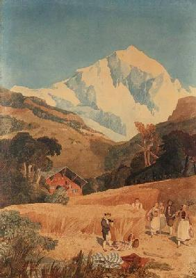View of the Jungfrau-Horn 1809  on