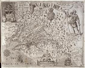 Map of Virginia, discovered and described by Captain John Smith, 1606, engraved by William Hole (fl. 1888