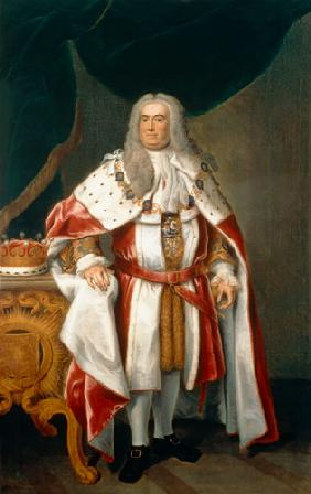 Portrait of Sir Robert Walpole (1676-1745) Earl of Orford 1743