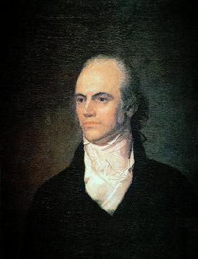 Aaron Burr (1756-1836) Vice President of the USA, c.1802 (oil on canvas) 1889