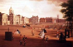 The 2nd Footguards (Coldstream) on Parade at Horse Guards' c.1750