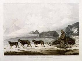 The Narta, or Sledge for Burdens in Kamtschatka, from 'Views in the South Seas' pub. 1789