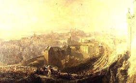 The Entry of George IV into Edinburgh from the Carlton Hill 1822