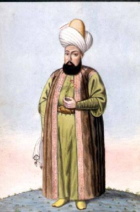 Othman (Osman) I (1259-1326), founder of the Ottoman empire, Sultan 1299-1326, from 'A Series of Por 1808