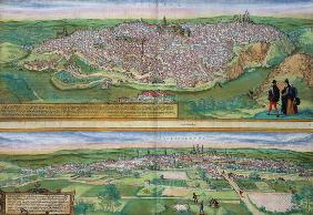 Map of Toledo and Valladolid, from 'Civitates Orbis Terrarum' by Georg Braun (1541-1622) and Frans H 1892