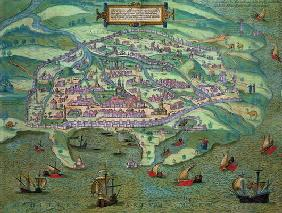 Map of Alexandria, from 'Civitates Orbis Terrarum' by Georg Braun (1541-1622) and Frans Hogenberg (1 18th