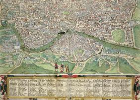 Map of Rome, from 'Civitates Orbis Terrarum' by Georg Braun (1541-1622) and Frans Hogenberg (1535-90 1879