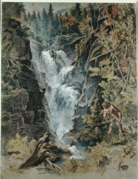 The Reichensbach Falls in Meiringen 1792-93