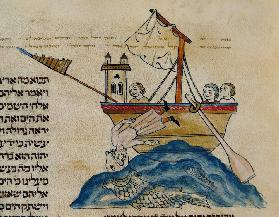 Jonah Eaten by the Whale, from a Hebrew Bible 1299