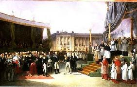 Inauguration of a Monument in Memory of Louis XVI (1754-93) by Charles X (1757-1836) at the Place de 1827