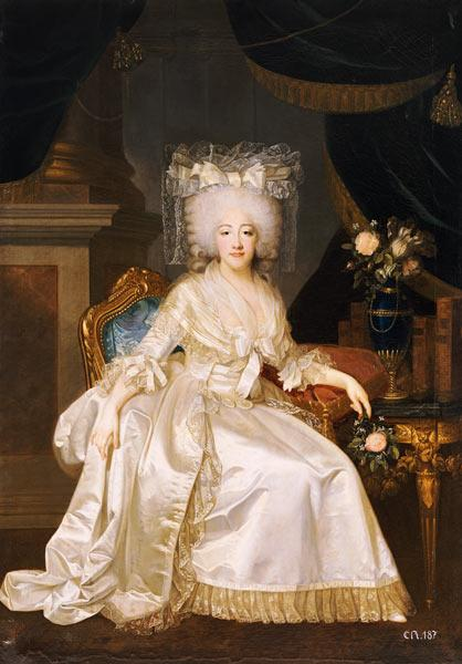 Portrait Of Louise Marie Josephine De Savoie, Comtesse De Provence, 1753 To 1810, Seated Full Length