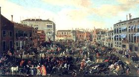 Kunstdruck von Joseph Heintz d.Ä. - Festival of the Bulls, Campo San Polo