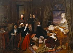 Kunstdruck von Joseph Danhauser - Liszt at the Piano