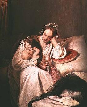 Kunstdruck von Joseph Danhauser - A Mother's Love