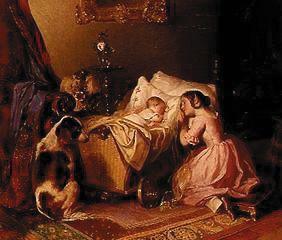 Kunstdruck von Joseph Danhauser - Schlafende Kinder