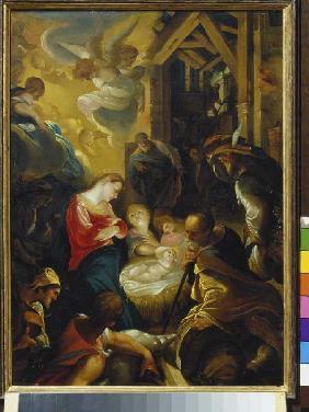 Kunstdruck von Joseph Heintz d.Ä. - Die Geburt Christi