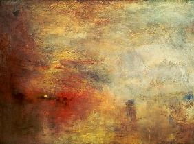 William Turner - Sonnenuntergang �ber einem See
