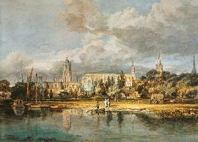 William Turner - Christ Church, von den Wiesen gesehen